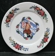 Collection Hansi - Assiette à dessert - Diam 21,5 cm  - Coiffe fleurie