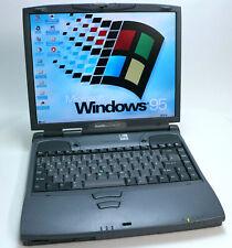 """Windows 95 retro portátil toshiba satellite 4100 xcdt 400 MHz 14,1"""" rs-232 dos win"""