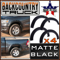 BackCountryTruck Bolt-On Style Fender Flares fit 2019-2020 Ram 1500 MATTE BLACK