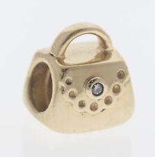 Pandora 14ct Gold Purse / Handbag with Diamond - 750340D - Retired ALE 585