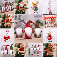 Santa Claus Christmas Pendant Doll Ornament Door Gift Tree Decoration Party Toys