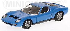 Lamborghini Miura SV 1971 azurro blau blue innen: black schwarz 1:43 Minichamps