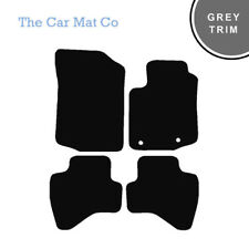 Peugeot 2008 2013-Present Fully Tailored Black Carpet Car Mats With Grey Binding