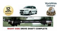 SKODA FABIA 1.2 1.4 1.6 1.9SDi 2000--> NEW RIGHT SIDE DRIVE SHAFT COMPLETE