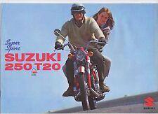 SUZUKI T20 250 Super Sport - 1968 - 8 page Motorcycle Brochure NOS