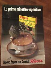 manifesto poster affiche,1971,KNORR PIATTI CAMPAGNOLI ZUPPA CON CARCIOFI