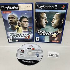 PS2 Football Games Bundle Pro Evolution Soccer 4&5 FIFA 08 A013