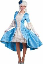 Woman's Blue Colonial Costume by Funny Fashion size M-L