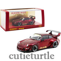 Tarmac Works Porsche 911 993 RWB Rauh Welt Begriff 1:43 Firebird Red T43-014-BF