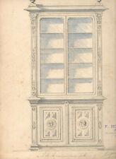 Dessin drawing - projet Bibliothèque renaissance - F. HOUSSEAU - Ameublement