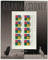 1996 STAMP MINI SHEET PACK 'OLYMPICS HAND OVER ATLANTA TO SYDNEY' - 10 x 45c MNH