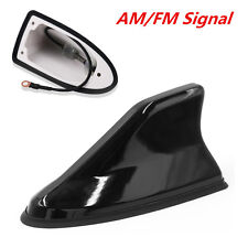 Black Universal Auto Car Roof Antenna Shark Fin Design AM/FM Radio Signal Aerial