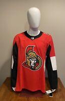 Adidas NHL Ottawa Senators Home Authentic Pro Hockey Jersey Size 56 NWT