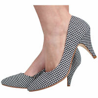NEW WOMENS COURT SHOES PUMPS MID HEEL WORK CASUAL OFFICE SIZE 3-8