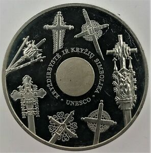 """Lithuanian SILVER coin 50LT """" Europe. European Cultural Heritage """" 2008"""