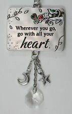 G Wherever you go with all heart Inspirations Car mirror charm ornament
