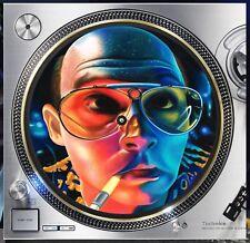 "Hunter S Thompson #4 Dope Slipmat Turntable 12"" LP Record Player, DJ Audiophile"