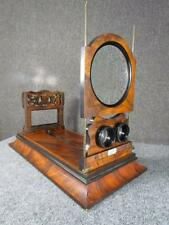 ANTIQUE 1800s signed ROSEWOOD FOLDING  STEREOSCOPE for STEREOVIEWS