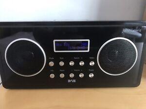 John Lewis DAB Digital & FM Clock Radio with Dock for iPod/ iPhone