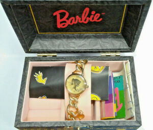 """NEW Fossil Mattel """"Charming Barbie"""" Limited Edition 1994 Watch/Jewelry Box #3325"""