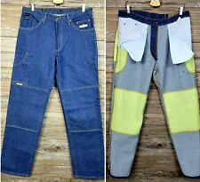 Diamond Gusset Mens Denim Motorcycle Jeans Size 35X34 USA Made With Kevlar EUC!