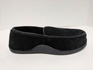 Isotoner Slippers, Black, Men's Size Large (9.5-10.5)