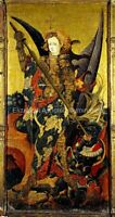 "Saint Michael Vanquishing the Devil by Gonzalo Perez. size:12x18""  NEW"