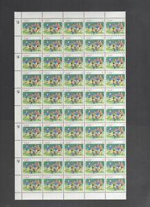 Australian Stamps Mint 1989 3c Football Sport Half Sheet 50 MNH Flaw