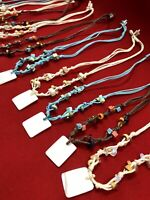 Wholesale Dozen Shell & Wood Bead With Charm Necklaces