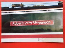 PHOTO  CLASS 91 ELECTRIC NAMEPLATE - 91 018 ROBERT LOUIS STEVENSON