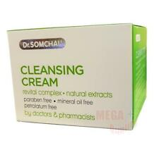 Dr. Somchai CLEANSING CREAM Deeply Cleanses Facial Skin Natural Health 40g.