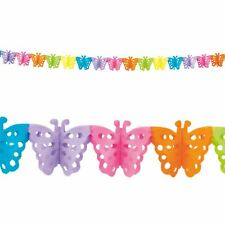 4m Rainbow Butterfly Colourful Kids Birthday Party New Baby Bunting Decorations