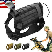 Police-K9 Tactical Training Dogs Harness Military Adjustable Molle Nylon Vest