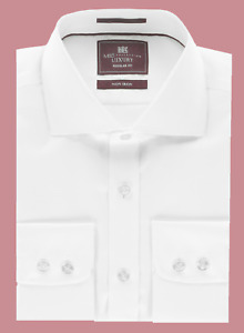 Ex M*S Mens Shirt Luxury Collection Pure Cotton Twill Shirt All Sizes (W8.27)