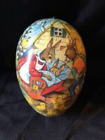 collectable vintage east Germany colourful Paper Mache ornamental Easter Egg box
