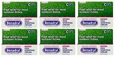 6 Pack - Benadryl Itch Stopping Cream, Original Strength 1oz Each