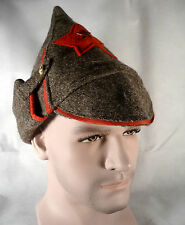 SOVIET RED ARMY WINTER BUDENOVKA with RED STAR WOOL HAT +INSIGNIA
