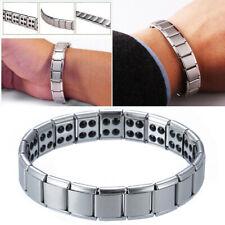 Titane Magnétique Bracelet Acier Inox Aimant Bio Santé Bijoux Femme Homme