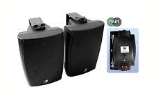 E-AUDIO BLACK 60 WATT ACTIVE BLUETOOTH WALL MOUNT SPEAKER PAIR iphone ipod
