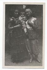 BM934 Carte Photo vintage card RPPC woman Femme Déguisement bébé dans les bras
