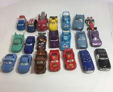 Disney Pixar Cars Diecast Lot Of 21 Vehicles Lightning Mcqueen Ronnie Del Cooper