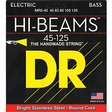 DR MR5-45 5 string HI-Beams Bright Stainless Steel Bass Guitar Strings 45-125 MD
