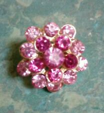 20mm golden pink and red Rhinestone brooch Jewellery (T4)