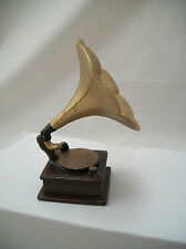 "Gramophone  dollhouse miniature furniture music  1/12"" scale T8532 record player"