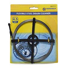 FLEXIBLE STEEL DRAIN CLEANER WIRE 4.5Meter (m) DRAIN CLEANER STEEL COIL 15FT