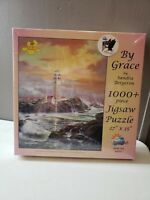 "SunsOut Jigsaw Puzzle ""By Grace"" By Sandra Bergeron 1,000+  Pcs ~Lighthouse NEW"