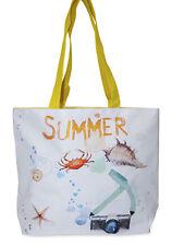 Womens Summer Theme Print Tote Bag Purse Handbag Travel Carry on Shopping