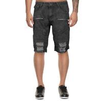 LR Scoop Men's Distressed Denim Slim Fit Moto Skinny Jean Shorts w/ Defect - 34