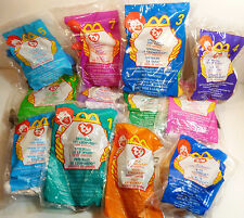 Rare McDonald's TY Teenie Beanie Babies Lot Of 12 1999 new in bags 1 to 12