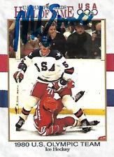 Mike Eruzione Signed Auto 1980 USA Olympic Hockey Team Card - COA - Gold - USA